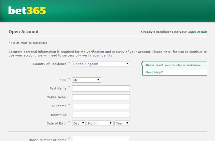 Bet365 Open Account Offer